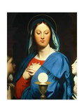 The Virgin Mary Prays to the Host, 1866 Giclee Print by Jean-Auguste-Dominique Ingres