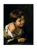 A Peasant Boy Leaning on a Sill, 1670-1680 Giclee Print by Bartolome Esteban Murillo