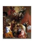 The Birth of the Virgin, 1650-1660 Giclee Print by Jan-Erasmus Quellinus