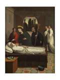 The Death of Saint Bernard, Ca. 1545 Giclee Print by Juan Correa de Vivar