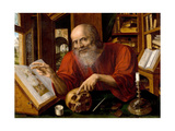 Saint Jerome, 1530-1540 Giclee Print by Jan Massys