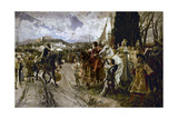 The Surrender of Granada in 1492 Giclee Print by Francisco Pradilla Y Ortiz