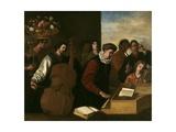 The Concert, Ca. 1640 Giclée-tryk af Aniello Falcone