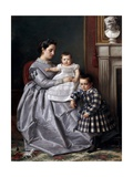 Retrato De La Familia Del Pintor, 1864-1865 Giclee Print by Victor Manzano Y Mejorada
