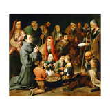 Saint Diego of Alcala Feeding the Poor, 1645-1646 Giclee Print by Bartolome Esteban Murillo