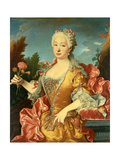Portrait of Barbara of Portugal, C. 1735 Giclee Print by Jean Ranc
