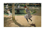 Girls with Skipping Ropes. Saltando a La Comba, 1907 Giclee Print by Joaquin Sorolla
