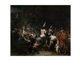 Condemned by the Inquisition Giclée-Druck von Eugenio Lucas Velazquez