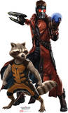 Marvel Guardians of the Galaxy - Star-Lord & Rocket Lifesize Standup Poster Cardboard Cutouts