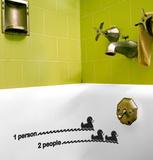 Bath Duck Level Kalkomania ścienna