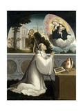 The Virgin Appears to Saint Bernard, 1540-1545 Giclee Print by Juan Correa de Vivar