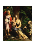 The Rest on the Flight to Egypt with Saint Francis, C. 1520 Giclee Print by Antonio Da Correggio