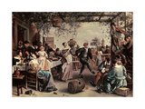 Pareja De Baile, 1663 Giclee Print by Jan Havicksz. Steen