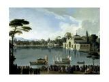 Embarque Real En El Estanque Grande Del Retiro, Ca. 1820 Giclee Print by Jose Ribelles