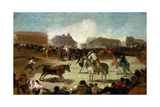 Bullfight in a Village, 1815-1819 Giclee Print by Francisco de Goya