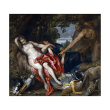 Diana and Endymion Surprised by a Satyr, 1622-1627 Giclée-Druck von Anthony Van Dyck