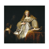 Judith at the Banquet of Holofernes, 1634 Giclee Print by  Rembrandt van Rijn