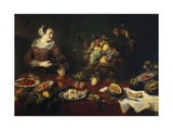 The Fruit Girl, Ca. 1633 Giclee Print by Frans Snyders