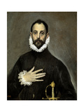 The Nobleman with His Hand on His Chest, Ca. 1580 Giclée-tryk af  El Greco