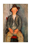 The Young Farmer, 1918 Giclée-tryk af Amedeo Modigliani