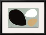 Birth/Black, White and Tan Eggs Prints by Jerry Kott