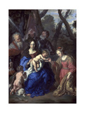 The Mystic Marriage of St. Catherine, with St. Leopold and St. William, 1647 Giclee Print by Joachim Von Sandrart