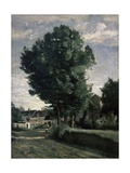 Outskirts of a Village Near Beauvais, Ca. 1850 Giclee Print by Jean-Baptiste-Camille Corot