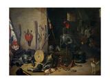 Un Cuerpo De Guardia Giclee Print by Abraham Teniers