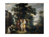 Abraham and the Three Angels Giclee Print by Frans Francken the Younger