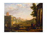 View of the Campo Vaccino, Rome, 1636 Giclee Print by Claude Lorrain