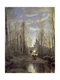 The Church at Marissel, 1866 Giclee Print by Jean-Baptiste-Camille Corot
