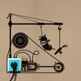 Hamster Treadmill - Duvar Çıkartması