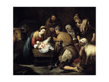 The Adoration of the Shepherds, Ca. 1657 Giclee Print by Bartolome Esteban Murillo