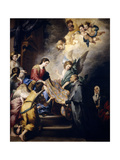The Virgin Descending to Award Saint Ildefons, Ca. 1655 Giclee Print by Bartolome Esteban Murillo