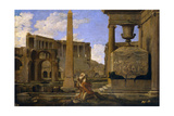 Hermit Among the Ruins, 1637-1638 Giclee Print by Jean Lemaire