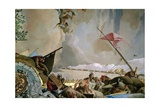 Throne Room: the Glory of Spain, Allegory of America, 1762-1766 Giclee Print by Giovanni Battista Tiepolo