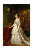 Portrait of Isabella II of Spain, 1844 Giclee Print by Federico De madrazo