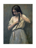 Young Girl at Her Toilet Giclee Print by Jean-Baptiste-Camille Corot