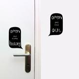 Open Door Sign (visuel regroupant les 2) Vinilo decorativo