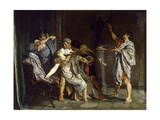 The Death of Lucretia, 1871 Giclee Print by Eduardo Rosales