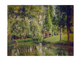 The Wash-House at Bazincourt, 1900 Giclee Print by Camille Pissarro
