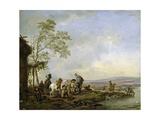 Stopping at the Inn, 1655-1658 Giclee Print by Philips Wouwerman