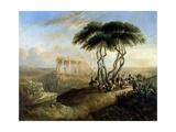 Paisaje Oriental Con Ruinas Clasicas, 1842 Giclee Print by Jenaro Perez Villaamil