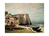 The Cliffs at Etretat after the Storm, 1870 Giclée-tryk af Gustave Courbet