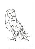 Barn Owl Poster van Antoine Tesquier Tedeschi