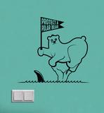Save a Polar Bear Vinilos decorativos