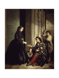 The Charity, 1857 Giclee Print by Jose Roldan