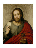 The Saviour, 1545-1550 Giclee Print by Juan De juanes