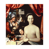 French School. Lady in Her Bath. La Dame Au Bain, 1570 Giclee Print by François Clouet