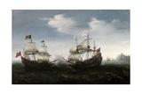 Combate Naval Frente a Una Costa Rocosa, 1626-1627 Giclee Print by Hendrick Cornelisz Vroom